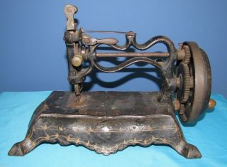 Antique Vintage Paw Foot Sewing Machine England Style Hand Painted photo