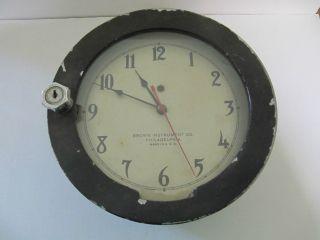Brown Instrument Co.  Marine Clock Philadelphia,  Pa photo