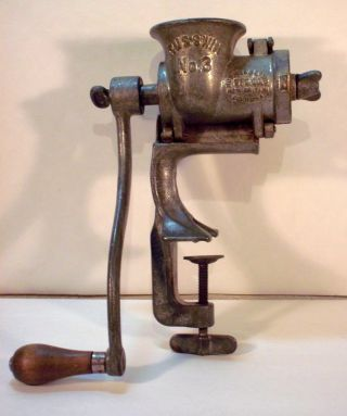 Antique Russwin No.  3 Meat Grinder,  Made In The Britain,  Cn,  Usa photo