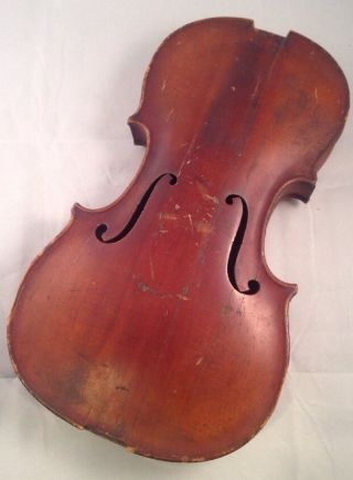Antique Hungarian 4/4 Violin By Placht Testverek 1880 Body Tiger Parts/display photo