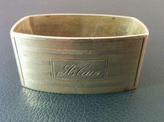 Antique Birks Sterling Silver Napkin Ring