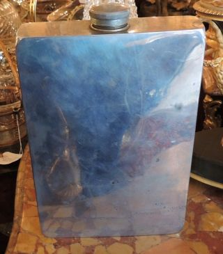 Vintage Extra Large Abercrombie & Fitch Co.  Nickel Silver 64 Oz Flask photo