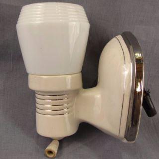 Porcelier Art Deco Vtg Porcelain Wall Sconce Bathroom Light Fixture White Plug photo