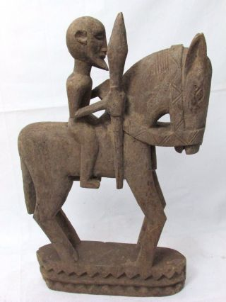 Fine African Art Dogon Equestrian,  Rider Figure Antique Collectible Tribal Art photo