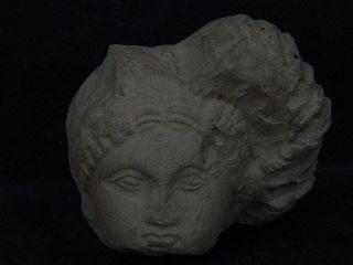 Ancient Teracotta Head Roman C.  200 Bc S1858 photo