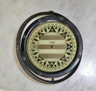 Antique Vintage Perko Gimballed Magnetic Liquid Compass 26825 Star Boston photo