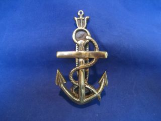 Vintage Solid Brass Marine Nautical Ships Anchor Door Knocker Maritime Decor 5