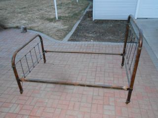 Antique Iron Bed photo