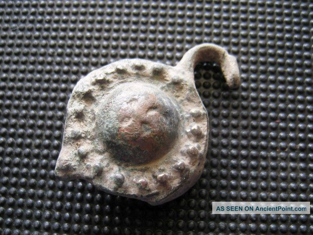Antiques Byzantine - Medieval Bronze Buckle Found With Metal Detector Byzantine photo