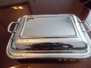A Fine Quality Antique Silver Plated Covered Dish - R & D - Made In England photo