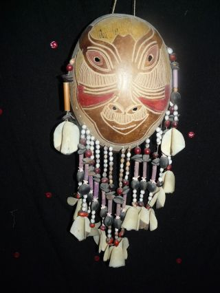 Bora Or Yagua Peru Amazon Indian Mask 2 photo