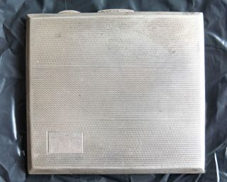Vintage Art Deco Style Sterling Silver Cigarette Case.  127gms photo