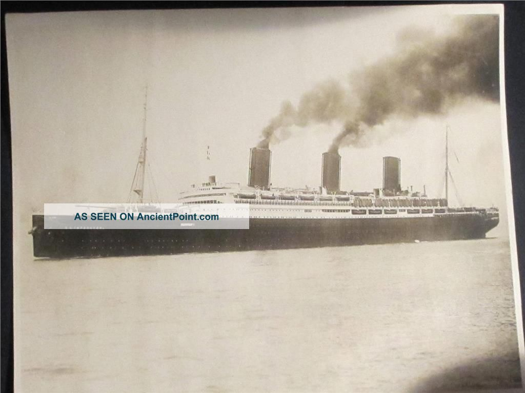 Big Ss Imperator Ship Photograph 1919 F Muller Jr Inc N.  Y. Other Maritime Antiques photo