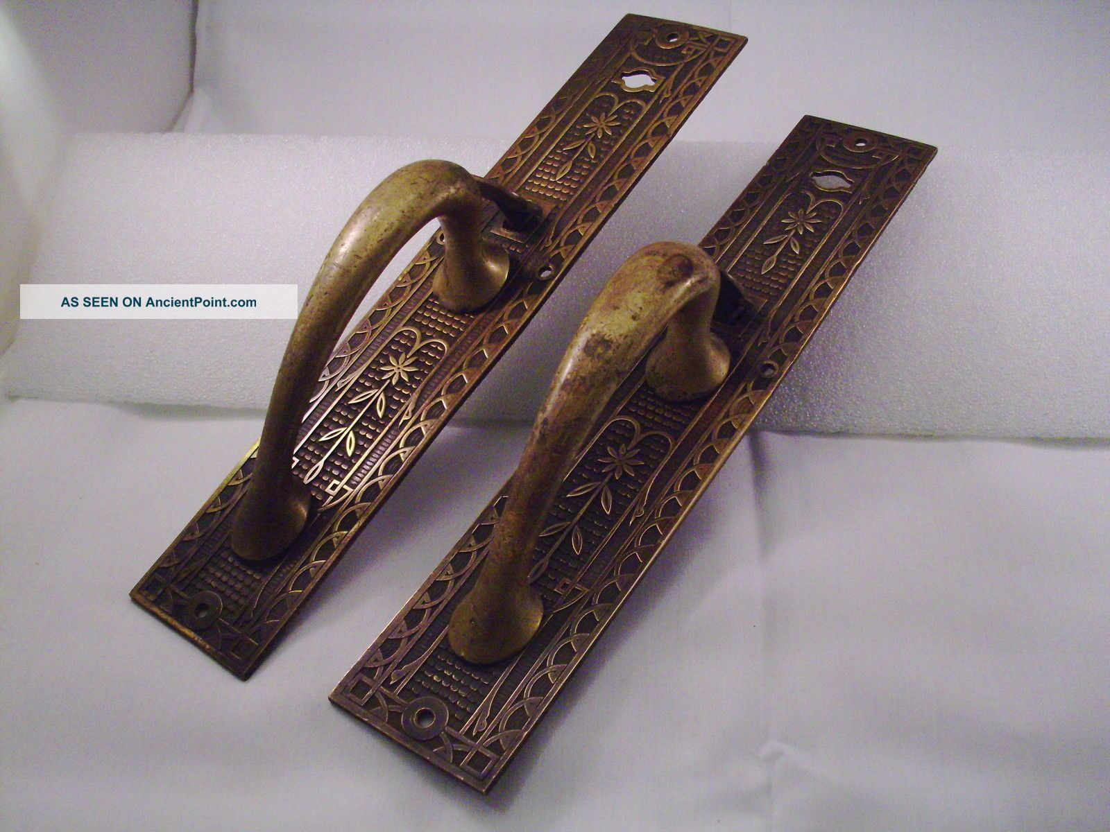 antique brass bronze handle door pulls sliding barn door handle 349 antique brass