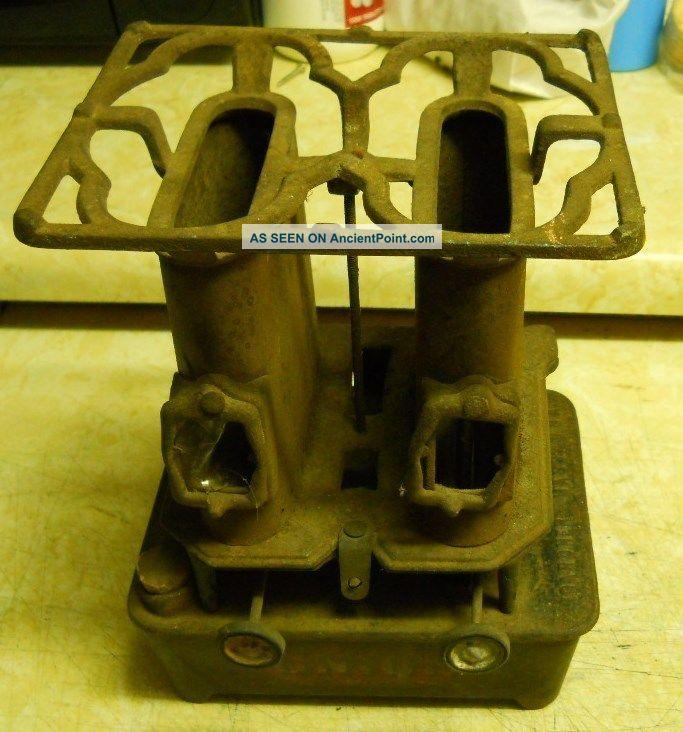 Antique - Vintage - Union Brand Kerosene Sad Flat Cast Iron Heater - Collectable - Nr South Italian photo