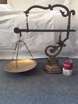Vintage Antique Brass Candy Apothecary Pharmacy Scale Balance Slide Weight Mdcv photo