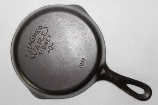 Vintage 1935 - 1959 Wagner Ware C/n 1053 Size 3 Skillet Cast Iron Frying Pan photo