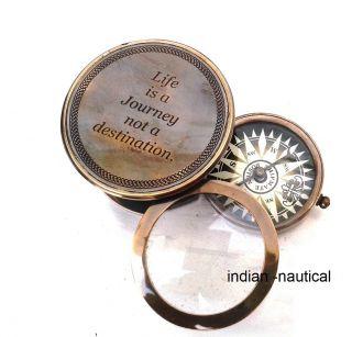 Brass Nautical Compass - Maritime Compass photo