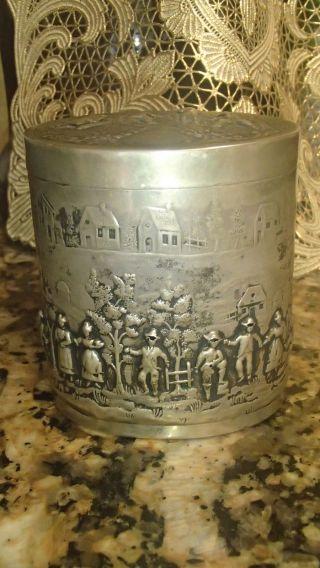 Vintage German Sterling Silver Box 5 Oz photo
