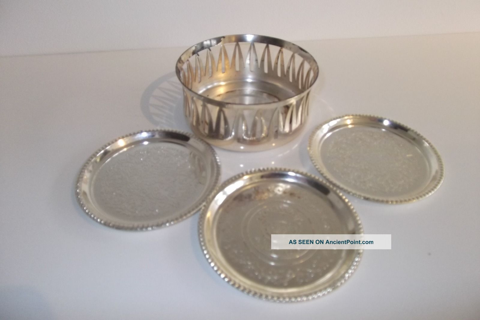 Vintage Silver Plated German Wmf Wine Bottle Holder Coaster,  Glyava Liquers Dishes & Coasters photo