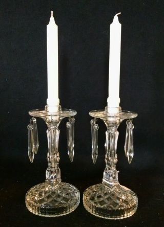 Antique Crystal Lusters,  Candle Holders photo