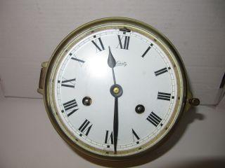 Vintage Schatz Mariner Ship ' S Bell Brass Clock German photo