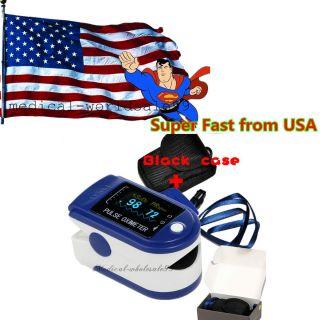 Blue Oled Finger Pulse Oximeter Blood Oxygen Saturation Tester Spo2 Pr Meter photo