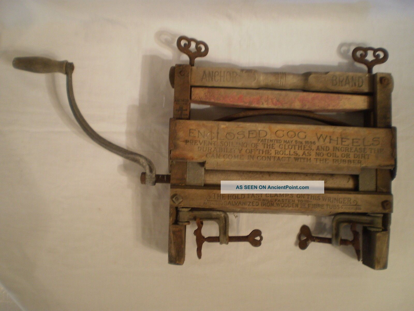 Antique Anchor Brand Lovell Mfg.  Co.  Hand Crank Clothes Wringer Erie Pa No.  791 Clothing Wringers photo
