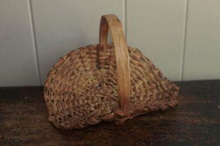 Antique Primitive Small Gathering Basket Americana photo