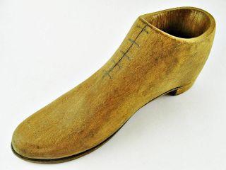 Vintage Hand Carved Wood Wooden Boot Shoe 4 & 1/2