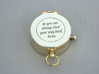 Heavy Brass Necklace Lid Compass 31mm Locket Compass Gift Compass photo