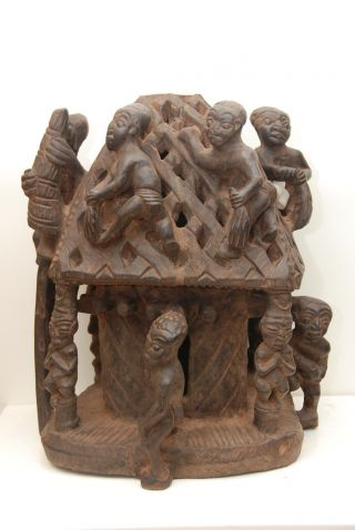 Cameroon: Tribal Very Expressive Large African Altar From The Bamun. photo