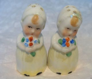 Antique German Figural Germany Salt/pepper Shakers/pots/cruets Half Doll photo