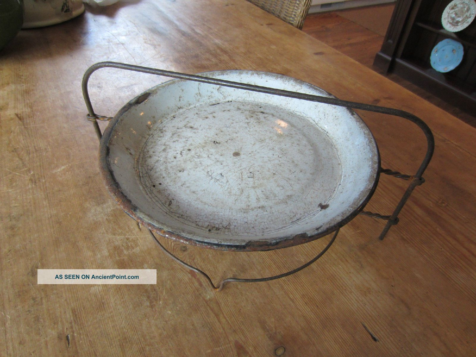 Antique Old Metal 2 Tier Pie Plate - Cooling Rack W/plate Wire Stand . & Mesmerizing Silver Pie Plate Holder Photos - Best Image Engine ...