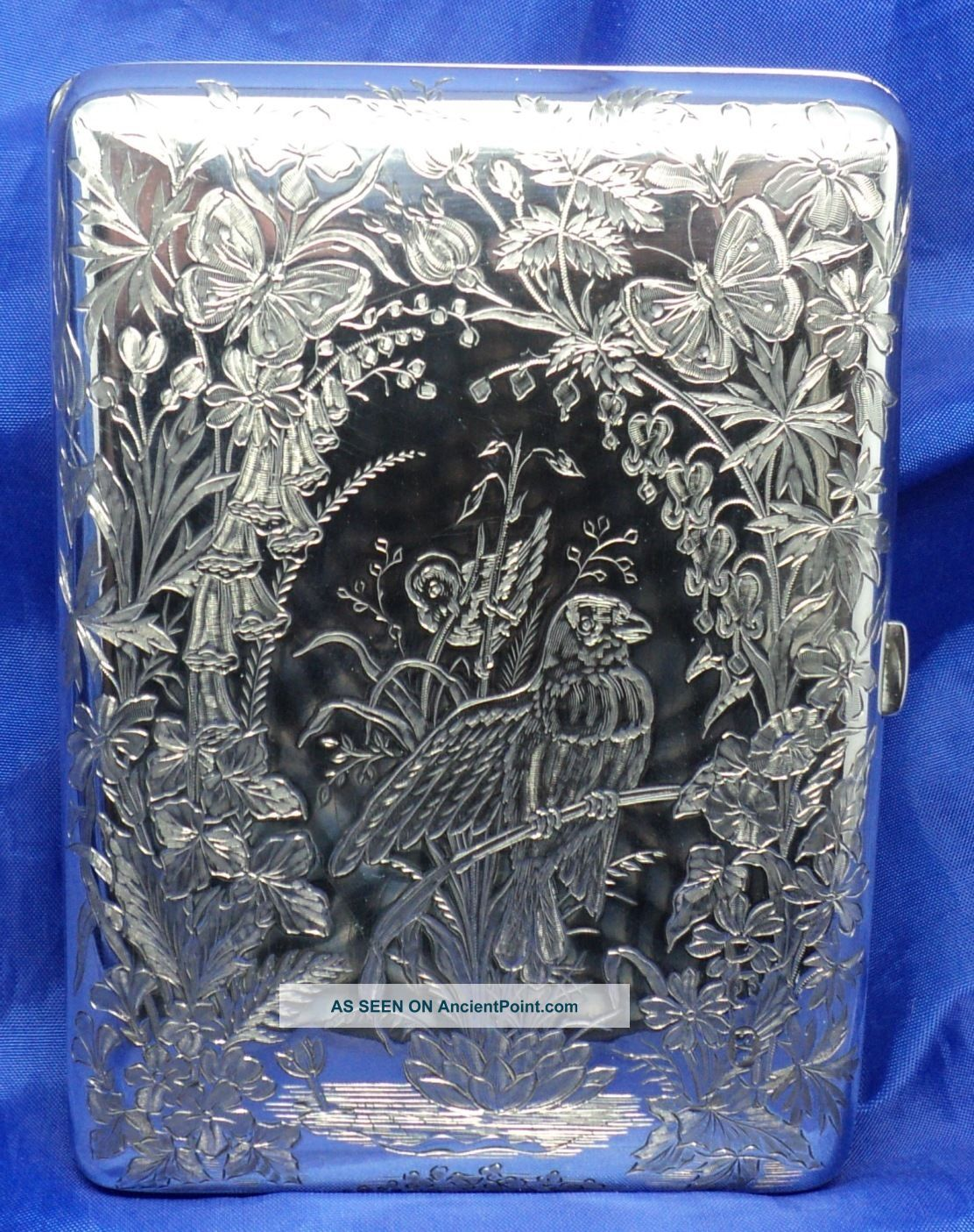 Boxed Victorian Solid Silver Aide MÉmoire By William Summers London1871 Card Cases photo