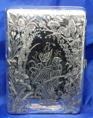 Boxed Victorian Solid Silver Aide MÉmoire By William Summers London1871 photo