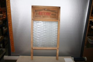 Glass King 860 Wood & Glass Washboard With Front Drain National Washboard Co photo