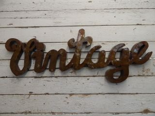 Industrial Metal Vintage Sign Rustic Decor Store Marquee Primitive Picker Chic photo