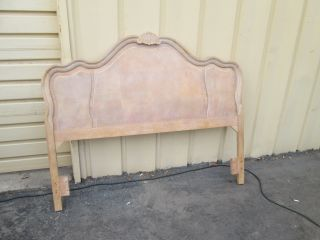 55455 White Wash Romantic Shabby Full / Queen Size Headboard Bed photo