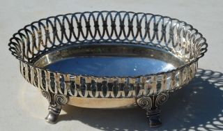 1888 Gorham Sterling Pierced Footed Bon Bon Bowl - 730 - 6 1/2