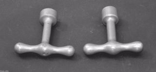 Antique Fireplace Gas Valve Keys Cast Nickle 1/2
