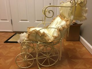 Vintage Baby Doll Carriage - Exsquisite Iron/metal Antique photo