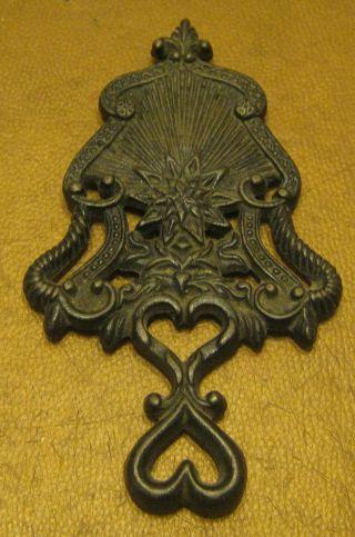 Antique Wilton Cast Iron Trivet Pattern No Rust photo