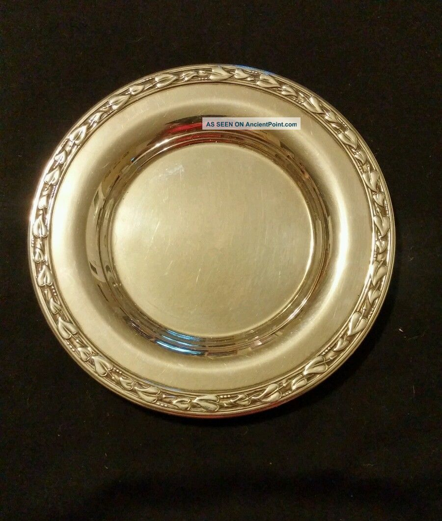 Wm A Rogers Ltd Silversmiths Small Plate 5 1/2 Inch Dish Plates & Chargers photo