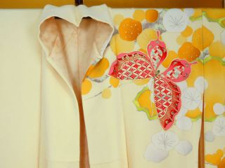 Japanese Kimono Furisode 100 Silk Classy Picture photo
