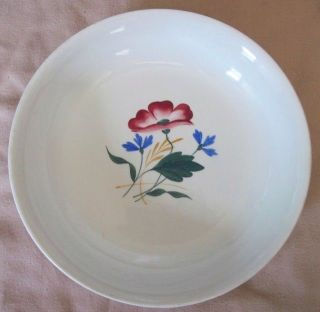 French Plate/shallow Bowl - Pretty Hand Painted Flowers,  Versailles France Vintage photo