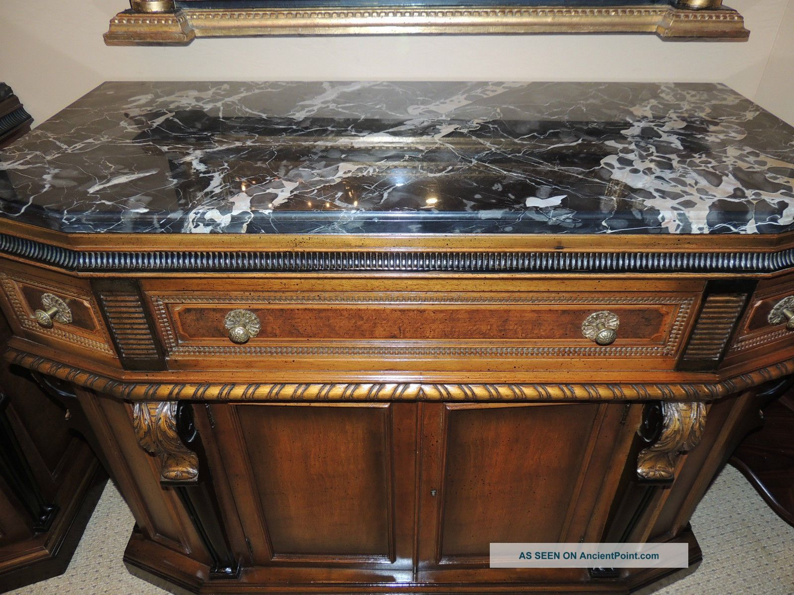 Neo - Classical Style Credenza/server/sideboard With Coordinating Mirrors 1900-1950 photo