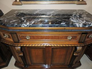 Neo - Classical Style Credenza/server/sideboard With Coordinating Mirrors photo