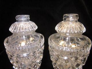 Vintage Cut Crystal Salt And Pepper Shakers photo