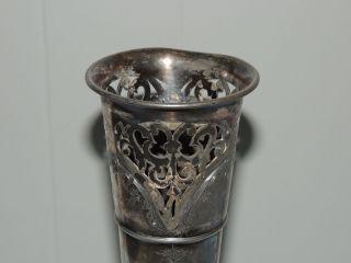 Antique Vintage Wilcox Silver Trumpet Vase photo